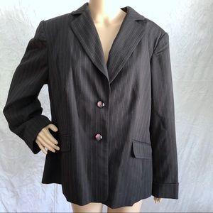 Black and Pink Striped Blazer